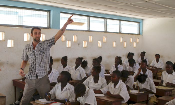 Liam Flaherty, a New York City native, is currently serving as an education volunteer in Sierra Leone. (Courtesy of the Peace Corps)