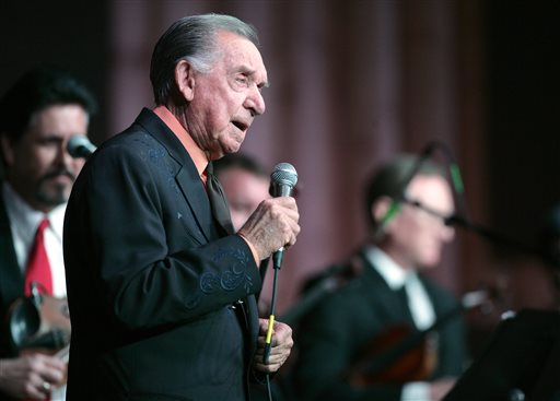 "Country Music Hall of Fame member and Grammy award winner Ray ""The Cherokee Cowboy"" Price celebrates his 86th birthday by performing, in this photo from, Jan. 7, 2011 in Bullard Texas. (AP Photo/Dr. Scott M. Lieberman)"