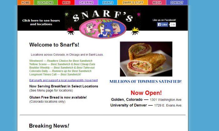 (Screenshot of Snarf's website)