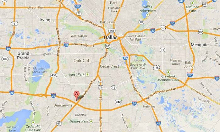 Google Maps shows the location of the Southwest Center Mall in Dallas.