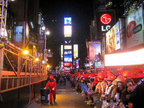 Times Square on New Year's Eve (Pamela Skillings)