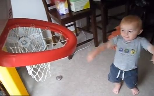 'Trick Shot Toddler Titus' Video 1: A Perfect Shot