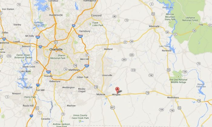 A Google Maps screenshot shows the location of Wingate University.