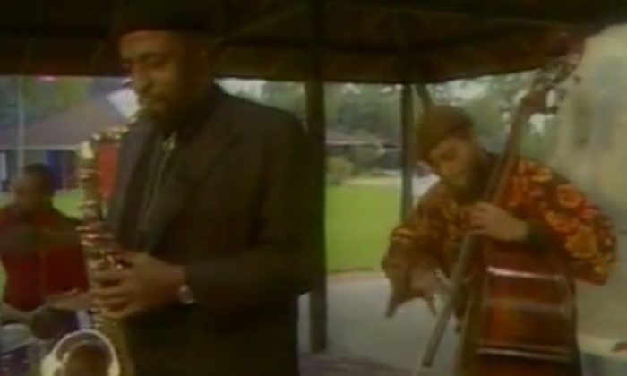 A screenshot of a YouTube video shows Yusef Lateef on the saxophone.