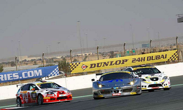 A variety of cars in several classes take part in qualifying for the Dubai 24. (24hrSeries.com)