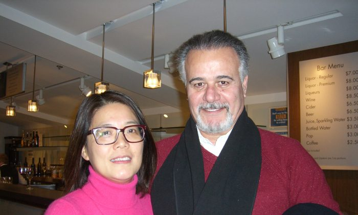 Bruce and Nyree Saroush attended Shen Yun Performing Arts at the Queen Elizabeth Theatre in Vancouver on Jan. 24 2014. (Epoch Times)
