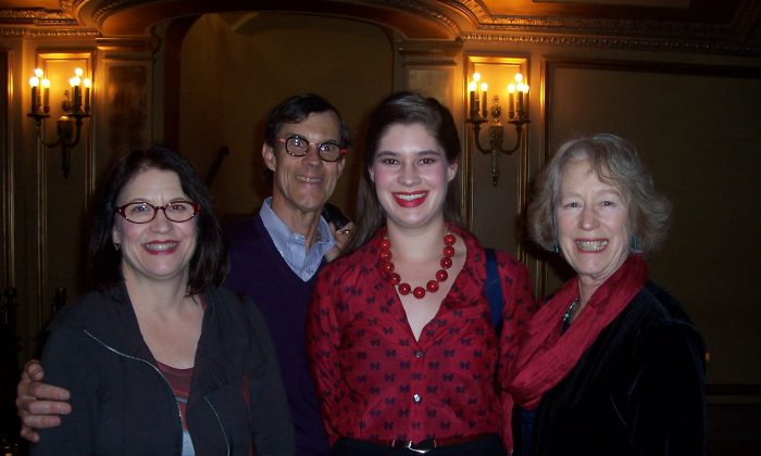 (L-R) Andrea Wolf, Rocky Wolf, Caitlin Wolf, and Judy Mack enjoyed Shen Yun Performing Arts at the War Memorial Opera House in San Francisco, Jan. 8. (Catherine Yang/Epoch Times)