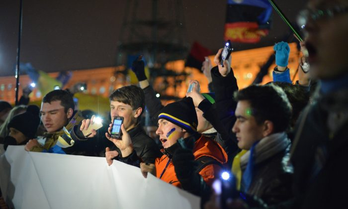 Protestors in Ukraine, Kiev (Ivan Bandura)