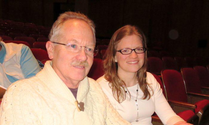 Grant Johnson and his daughter, Corinne Johnson, enjoy Shen Yun Performing Arts at Portland's Keller Auditorium on Jan. 18. (Lauren DePhillips/Epoch Times)