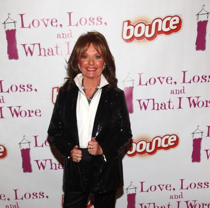 Actress Dawn Wells, wearing clothing dried with Bounce Fabric Sotner, attends the Bounce® Fabric Softener Teams Up With Stage Play Love, Loss, And What I Wore at B Smith's Restaurant on February 2, 2012 in New York City.  (Photo by Astrid Stawiarz/Getty Images for Bounce)
