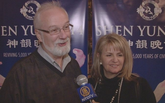 William and Kelly  McCauley enjoy Shen Yun Performing Arts at the Tennessee Theatre, on Jan. 7. (Courtesy of NTD Television)