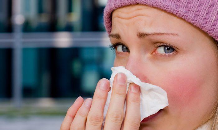 A saline nose spray can help flush out bacteria. (oneblink-cj/photos.com)