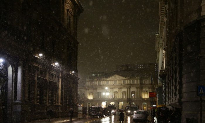 A general view of the Teatro alla Scala Piazza in Milan, Italy, on Dec. 7, 2012. (Vittorio Zunino Celotto/Getty Images)