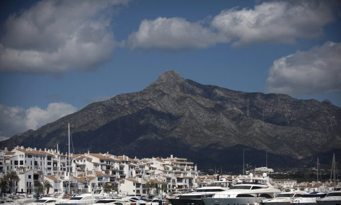 Puerto Banus, near Marbella, March 30. (Jorge Guerrero/AFP/Getty Images)