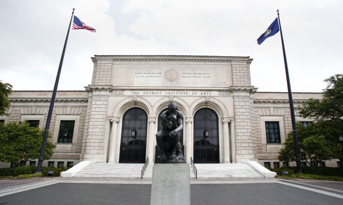 The Detroit Institute of Arts (DIA) on May 31, 2013, in Detroit, Mich. A group of philanthropies pledged $330 million to help save the DIA from having to sell off its esteemed collection in bankruptcy negotiations. (Bill Pugliano/Getty Images)