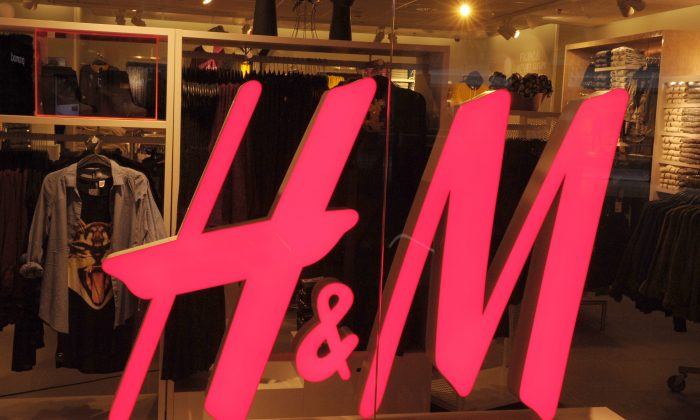 """Picture shows a """"Hennes & Mauritz"""" (H & M) shop taken on October 22, 2013 at the Beaugrenelle shopping center in Paris. (ERIC PIERMONT/AFP/Getty Images)"""