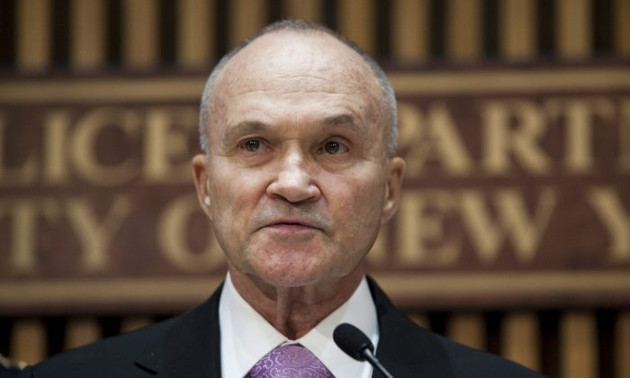 Police Commissioner Ray Kelly on Sept. 19, 2013. (Samira Bouaou/Epoch Times)