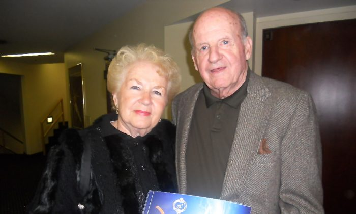 Mr. and Mrs. Richard Corbeil attended the Jan. 25 Shen Yun performance in Orlando, Fla. 'Fantastic! It was great,' Mr. Corbeil said. (Edie Bassen/Epoch Times)