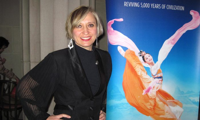 Olga Chervyakova, radio host and producer in the San Francisco Bay Area, saw Shen Yun Performing Arts at the War Memorial Opera House, on Jan 5. (Gary Wang/Epoch Times)