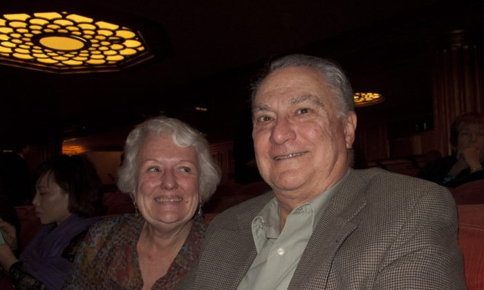 Mr. and Mrs. Ammendolia, who are regular attendees of the San Francisco War Memorial Opera House, thoroughly enjoyed Shen Yun on Jan. 8. (Alex Ma/Epoch Times)