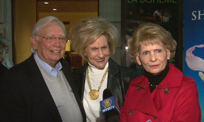 Haywood Corbett, a construction business owner, with his wife Myrtle, a retired banker, and his sister, June Thames. (Courtesy of NTD Television)