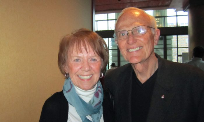Judy Newell and her husband Ronald Newell enjoy Shen Yun Performing Arts in Raleigh, on Jan. 11. (Epoch Times]