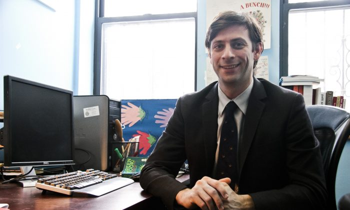 Council member Stephen Levin in his district office in Brooklyn, New York, on Jan. 21, 2014. (Kristina Skorbach/Epoch Times)