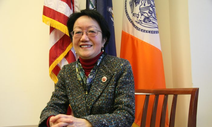 Council member Margaret Chin in her office at 250 Broadway, Manhattan, New York, on January 23, 2014. (Kristina Skorbach/Epoch Times)