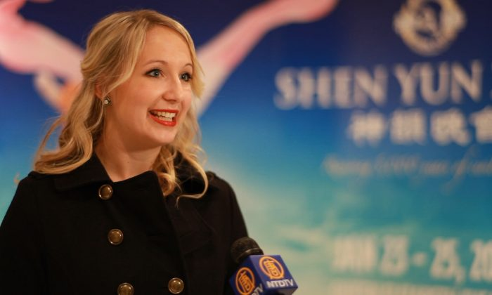 Brittany Litun, a dance studio director, said she thoroughly enjoyed the Shen Yun Performing Arts show at the Queen Elizabeth Theatre on Jan. 24, 2014. (NTD Television)