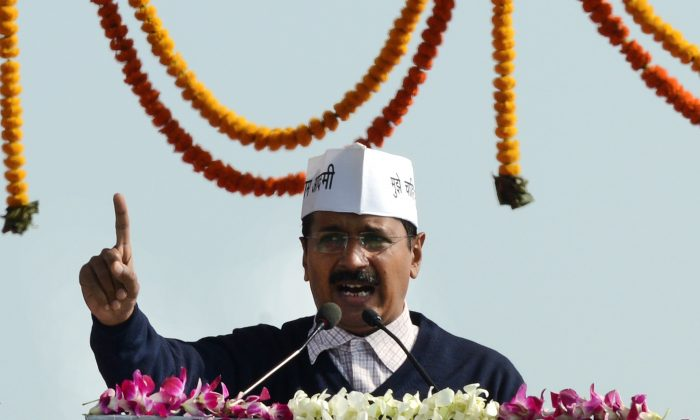 Arvind Kejriwal, the youngest chief minister in New Delhi history, should be on Bigg Boss 8, one Indian media says. (Raveendran/AFP/Getty Images)
