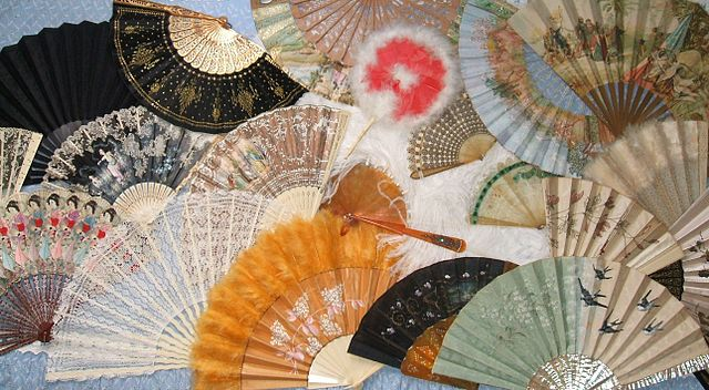 "In contemporary times, it has become a popular belief that women developed a ""secret"" language using these fans, even as they became a popular fashion accessory. (Commons Wikimedia)"