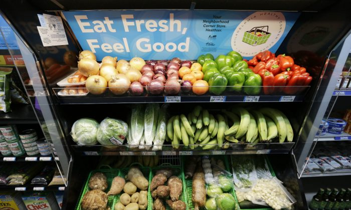 Fresh produce is displayed at the Indiana Food Market, Wednesday, Jan. 15, 2014, in Philadelphia. (AP Photo/Matt Rourke)