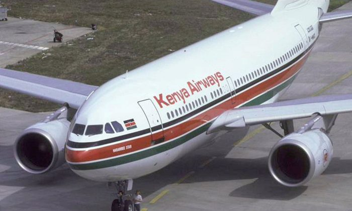 This is a undated photo of a Kenya Airways Airbus 310.   (AP Photo/Airbus Industries)