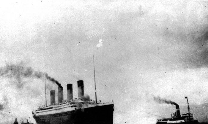 The Titanic in a 1912 file photo, five days before it crashed. (AP Photo, File)