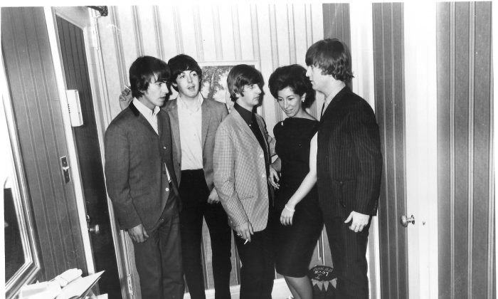 Bernadette Castro with The Beatles, back when the New York Parks Commissioner was a pop star. (Courtesy of Bernadette Castro)