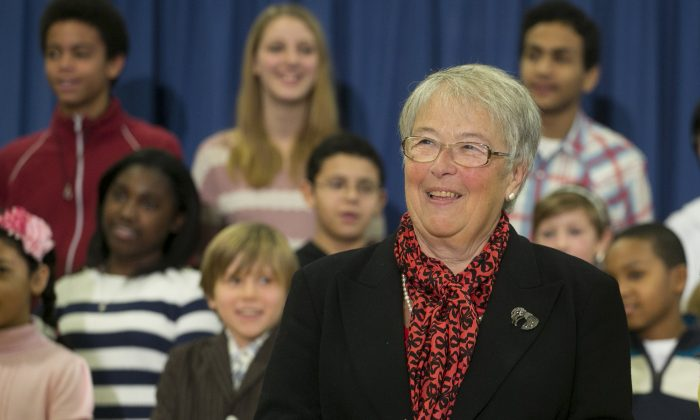 Carmen Fariña at MS51 in Brooklyn, New York, Dec. 30, 2013, shortly after Mayor Bill de Blasio appointed her to the New York City education chancellor. (Mark Lennihan/AP)