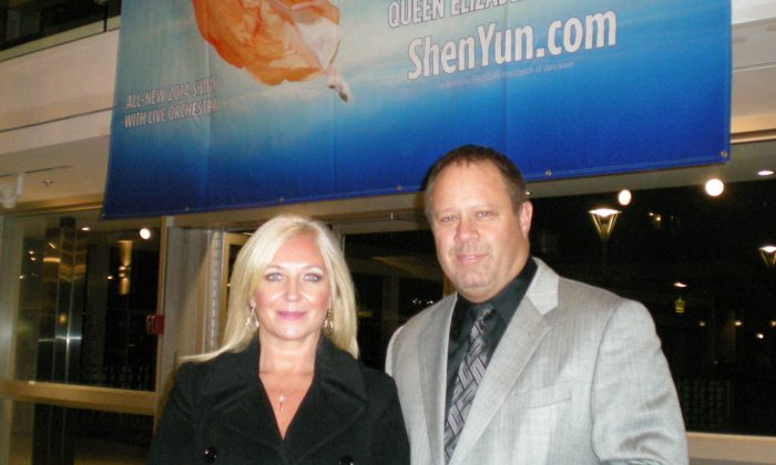 Chris and Michelle Holman thoroughly enjoyed the Shen Yun Performing Arts show they attended in Vancouver on Jan. 25, 2014. (Ryan Moffatt/Epoch Times)