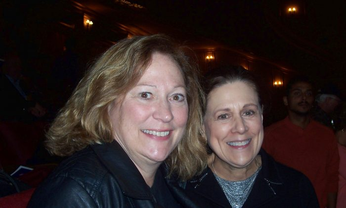 Debra Lepold (L) and Ms. Hansen loved Shen Yun Performing Arts at the San Francisco War Memorial Opera House Jan. 12. (Catherine Yang/Epoch Times)