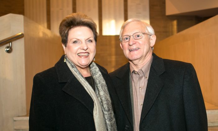 Diane and Ken Countes share their experiences after watching Shen Yun Performing Arts at the Lyric Opera House in Baltimore, Maryland, on Jan. 19, 2014. (Min Chang/Epoch Times)