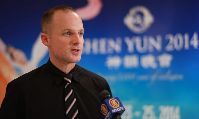 Douglas Teather enjoyed Shen Yun performing arts at the Queen Elizabeth Theatre in Vancouver on Jan. 25, 2014. (NTD Television)