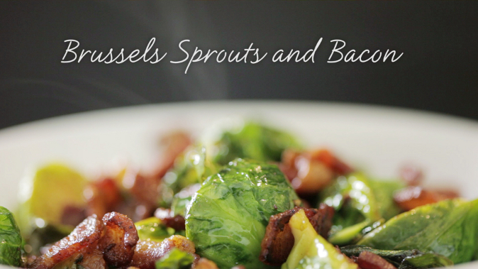 Brussels sprouts with bacon recipe that will make you clean your plate. (Courtesy of Food Ease)