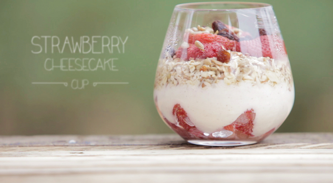 Strawberry cheesecake for breakfast! (Courtesy of Food Ease)
