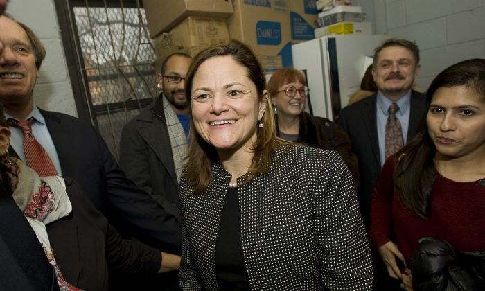 Melissa Mark-Viverito, candidate for speaker of the New York City Council. With the authority to set the legislative agenda, promote, or stall legislation, the council speaker plays a key role in determining which legislation becomes law. (William Alatriste/NYC Council)