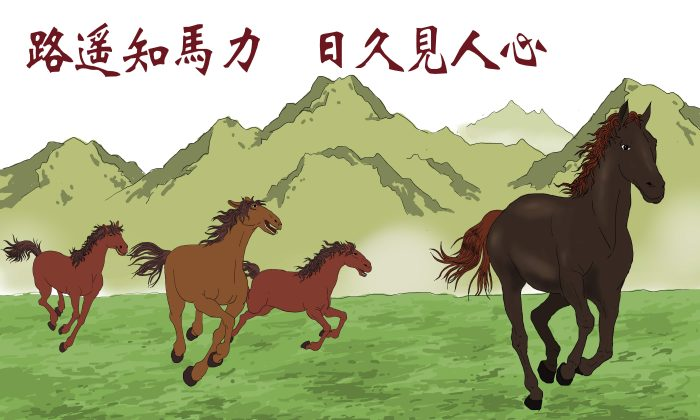 As a long road tests the strength of a horse, so time reveals a person's true heart. (Zhiching Chen, Epoch Times)