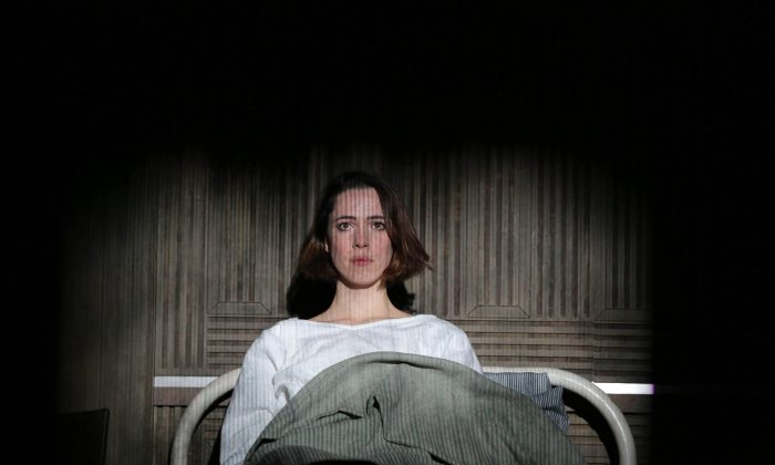 """Rebecca Hall stars in the early feminist drama """"Machinal"""" in which Young Woman feels completely alienated from society and from the roles she is expected to play. (Joan Marcus)"""