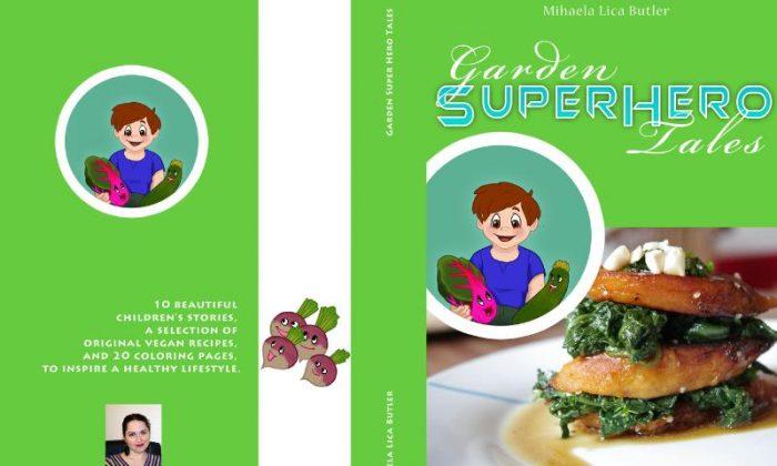 Front book cover, Garden Super Hero Tales. (PRNewsFoto/Mihaela Lica Butler)