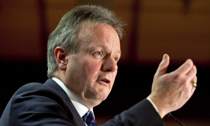 File photo of Bank of Canada Governor Stephen Poloz speaking to the Canadian Club in Montreal on Dec. 12, 2013. Poloz discussed his concerns on the Canadian economy with the CBC on Jan. 7, 2014, in Toronto. (Ryan Remiorz/The Canadian Press)