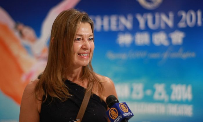 Preschool owner Sigrid Lightfoot at Shen Yun's Saturday Jan. 26, 2014, performance at Vancouver's Queen Elizabeth Theatre. (NTD Television )