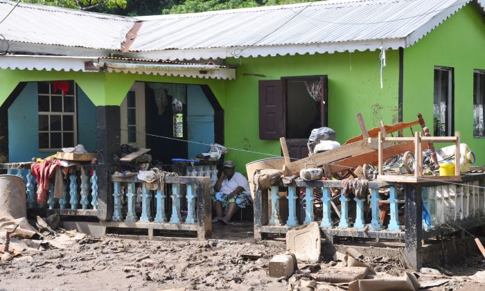 Devastation in the island of St. Vincent following heavy rainstorms and flooding on Christmas Day 2013. (Courtesy of the St. Vincent and the Grenadines mission to the UN)