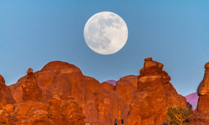 A supermoon in Arches National Park, Utah. (NPS photo by Jacob W. Frank)